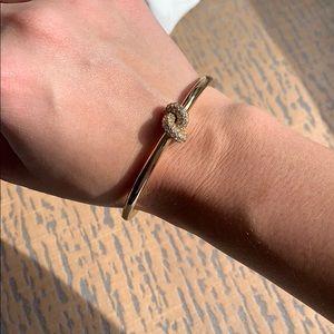 Late Spade Gold Love Me Knot Bangle Bracelet